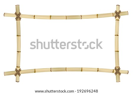 Frame of old bamboo sticks. Vector illustration