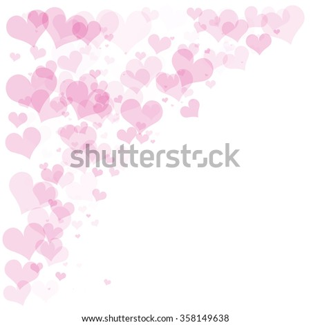 Frame of pink hearts on Valentine's Day. Empty space for your text. White background. Elegant vector illustration. - stock vector