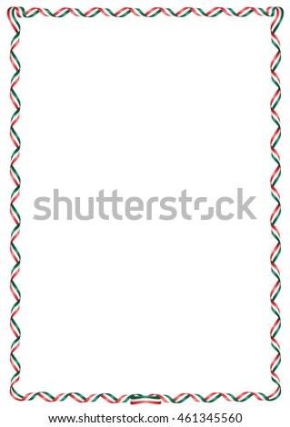 frame ribbon colors mexico flag stock vector 461345560 shutterstock