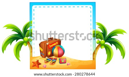 Frame of summer holiday design