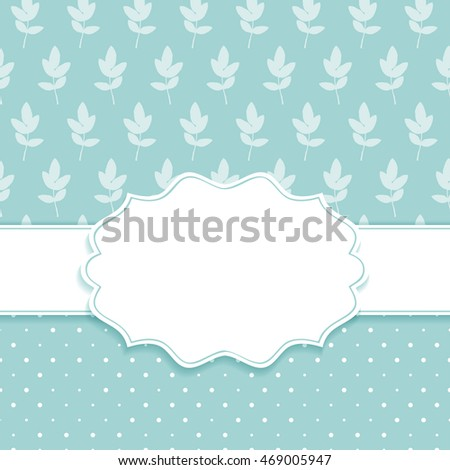 Frame on the background with two leaves seamless 