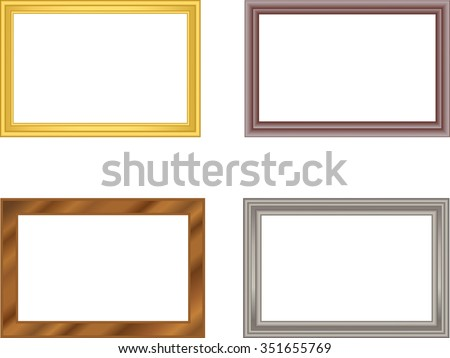 Frame Pattern Metal Gold Metal Silver Stock Vector 351655769 ...