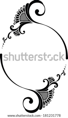 Frame round. - stock vector