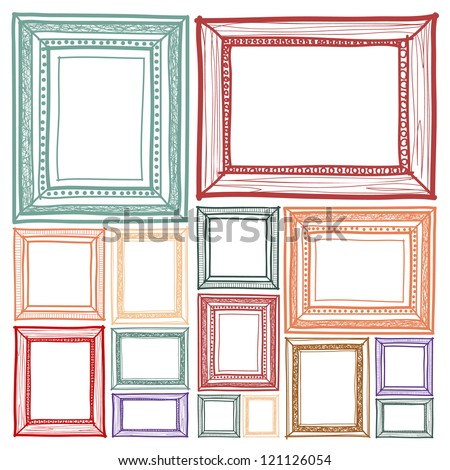Picture Frame Drawing Stock Photos, Images, & Pictures ...