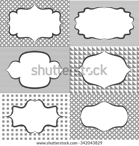 Frame Sticker Label Tags Card Template Stock Vector 342043829 ...