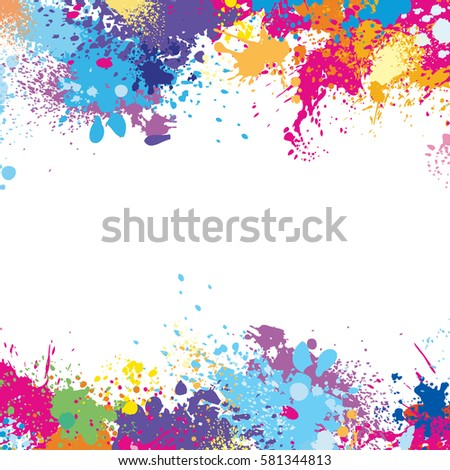Frame Template Made Paint Stains Stock Vector (2018) 581344813 ...