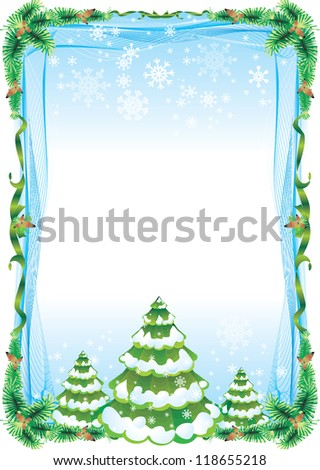 frame tree - stock vector
