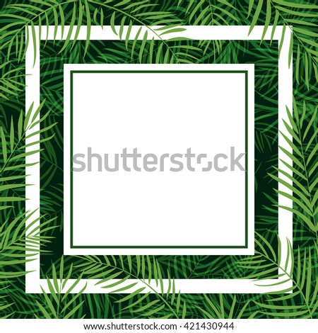 frame tropical palm leaf 10eps
