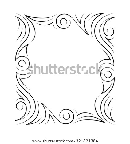 Frame. Vector. Decorative elements.  - stock vector