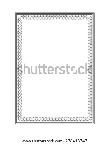 Frame Vector isolated in white background.