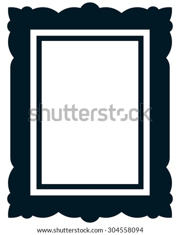 Frame vector vintage picture framed - stock vector