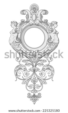 Frame with Angels vector - stock vector