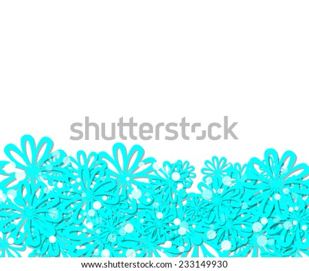 frame with blue flowers. Background for your text - stock vector
