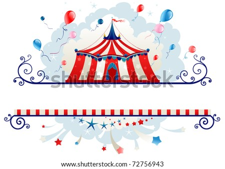 Frame Circus Tent Space Text Stock Vector 72756943 - Shutterstock