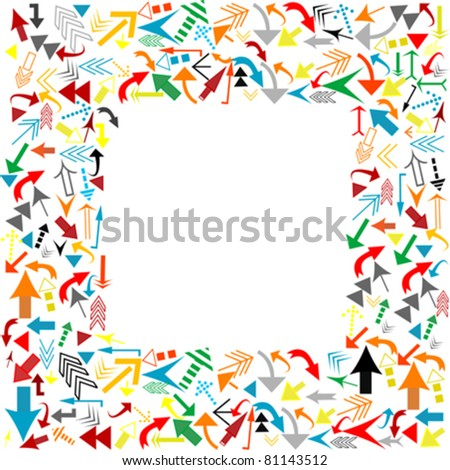 Frame with colored arrows - stock vector