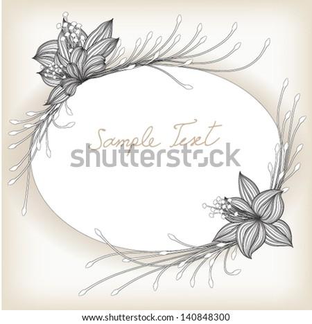 Frame with floral decoration. Element for design. EPS10 Vector illustration background - stock vector