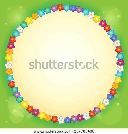Frame with flower theme 3 - eps10 vector illustration. - stock vector