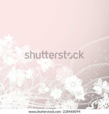 frame with gentle soft flowers. Vector template - stock vector