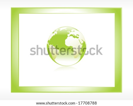 frame with globe icon - stock vector