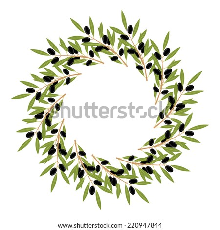 Frame with olive - stock vector
