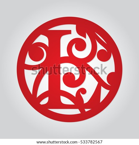 Cut out paper letters stock images royalty free images vectors framed monogram capital letter l with floral pattern may be used for laser cutting spiritdancerdesigns Gallery