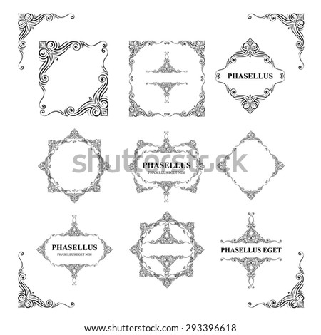 Frames. Decorative elements. Vector set - stock vector