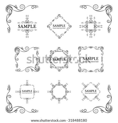 Frames. Decorative elements. Vector set