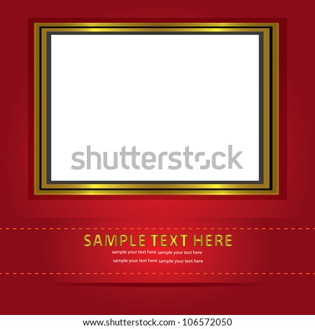 Frames for picture and text ,Vector - stock vector