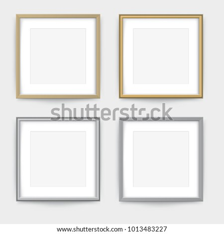 Frames On Wall Gold Silver Frame Stock Vector (Royalty Free ...