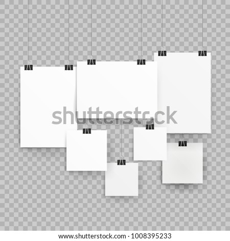 Frames Poster Templates Isolated On Transparent Stock Vector ...