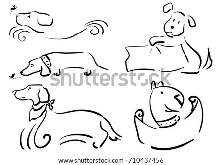 Frames Doodle Dogs Notebook Space Text Stock Vector 710437456 ...