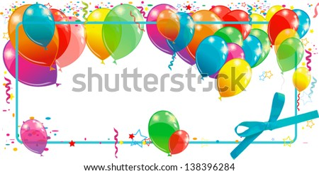 framewith balloons - stock vector