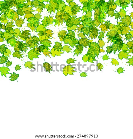 framework for your text with green leaves. Eco border. Vector illustration eps 10
