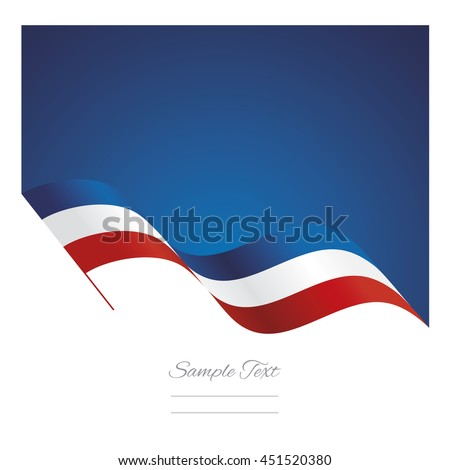 France abstract wave flag ribbon vector background