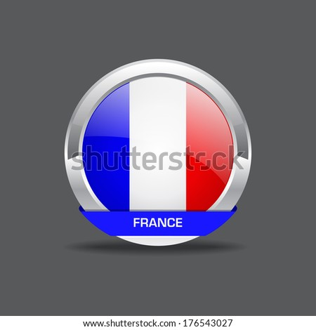 France Flag Vctor Icon
