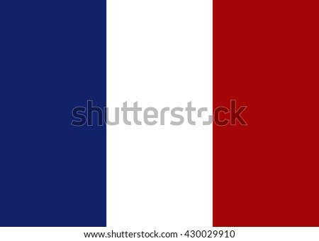 France flag. Vector illustration - stock vector