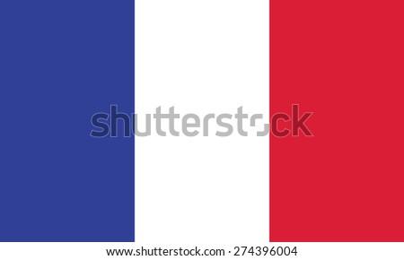 France flag vector. Vector illustration. - stock vector