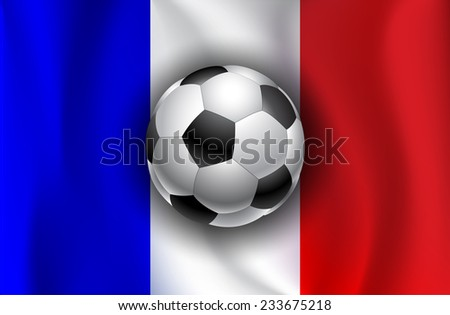 France flag with soccer balls - stock vector