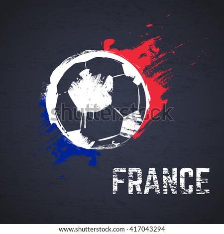 France football background - stock vector