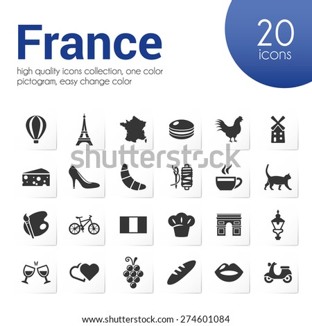 france icons - stock vector