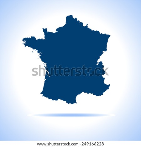 France Map - stock vector