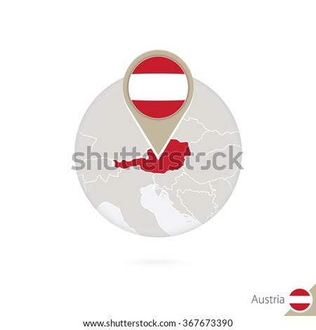 France map and flag in circle. Map of France, France flag pin. Map of France in the style of the globe. Vector Illustration. - stock vector