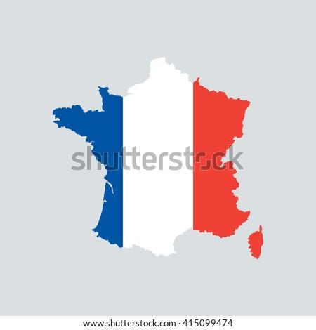 France map. France map Flag. France map vector. France map flat. France map template. France map paper. France map infographic. France map clean. France map art. France map card. France map eps. - stock vector