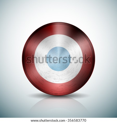 France metallic button