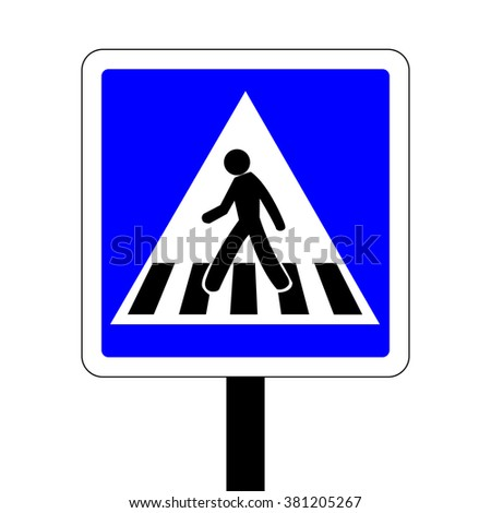 France Pedestrian Crossing Road Sign