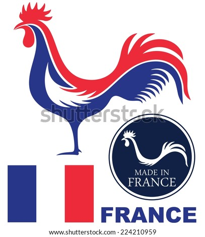 france rooster logo abstract france elements stock vector hd rh shutterstock com De Colores Rooster Clip Art Colorful Rooster On Black Background Clip Art