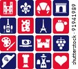 France's pictograms - stock vector