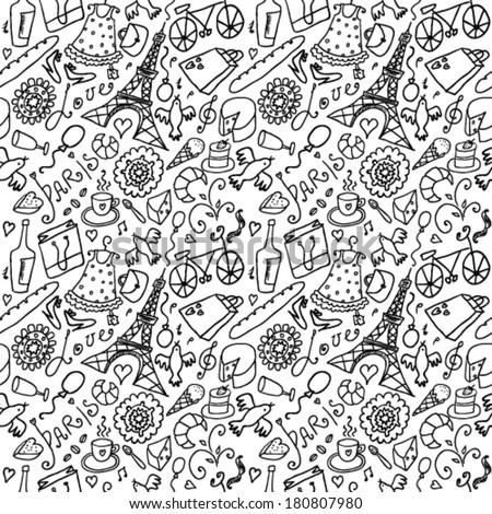France seamless background - stock vector