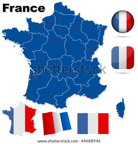France vector set. Corrected version available, image id - 45290080. - stock vector