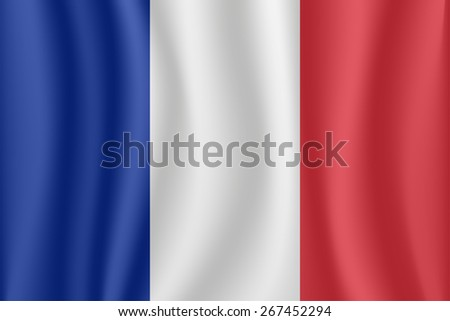 France waving flag - stock vector